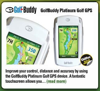 Golf Buddy Platinum GPS Rangefinder